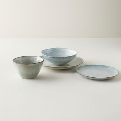 Washed Gray Ceramic Dinnerware