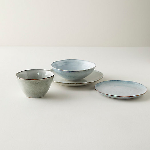 View larger image of Washed Gray Ceramic Dinnerware