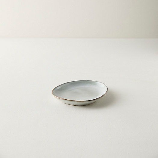 View larger image of Washed Gray Ceramic Appetizer Plate