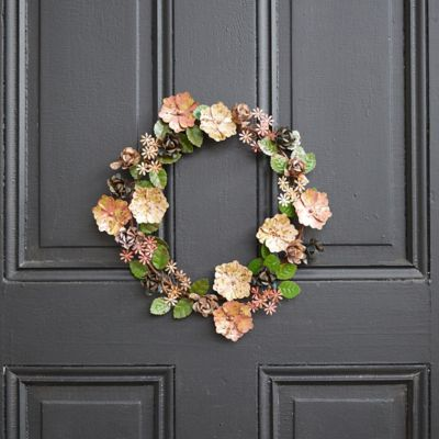 Iron Fall Floral Wreath