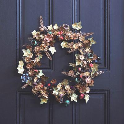 Gilded Botanicals Iron + Velvet Wreath