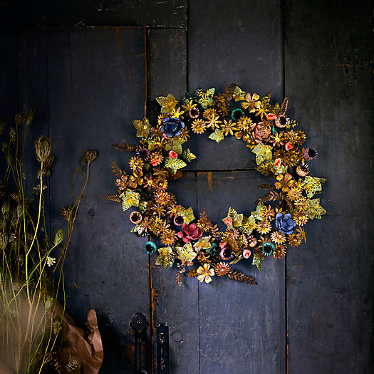 View larger image of Gilded Botanicals Iron + Velvet Wreath