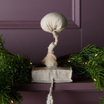 Mushroom Fabric Stocking Holder