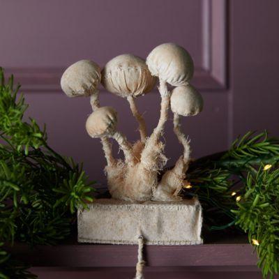 Mushroom Group Muslin Stocking Holder