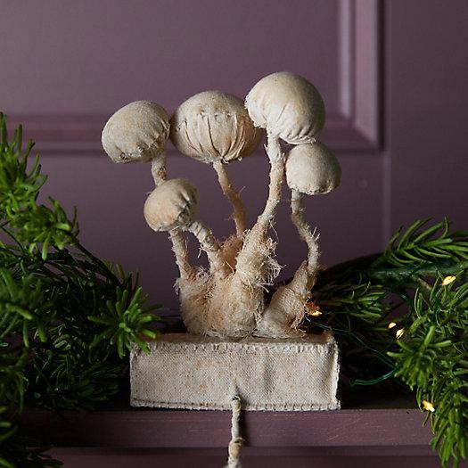 View larger image of Mushroom Group Muslin Stocking Holder