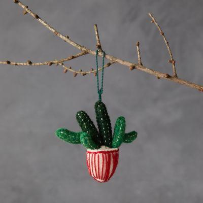 Potted Cactus Felt Ornament