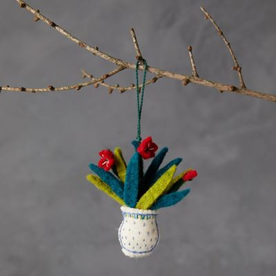 Bouquet in a Vase Felt Ornament