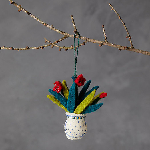 View larger image of Bouquet in a Vase Felt Ornament