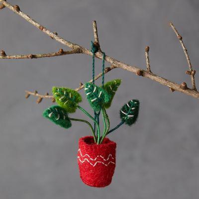 Potted Monstera Felt Ornament