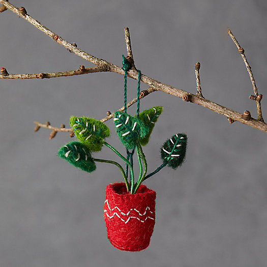 View larger image of Potted Monstera Felt Ornament