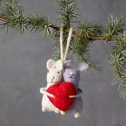 View larger image of Sweetheart Mice Felt Ornament