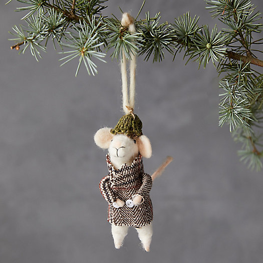View larger image of Mouse in an Overcoat Felt Ornament