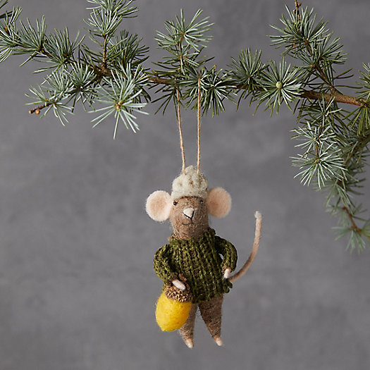 View larger image of Mouse in a Green Sweater Felt Ornament