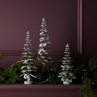 Icy Evergreen Tabletop Tree