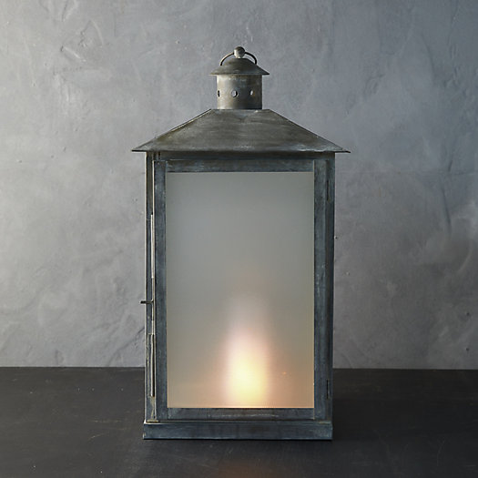 View larger image of Landmark Galvanized Lantern, Silver