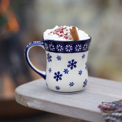 Nordic Star + Snowflake Ceramic Mug