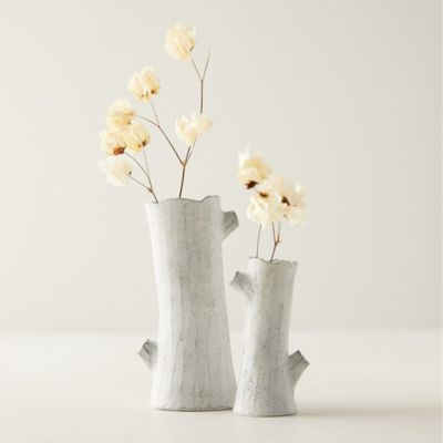 Earthenware Birch Branch Bud Vase
