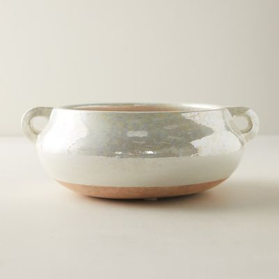 Iridescent Glaze Clay Decorative Bowl