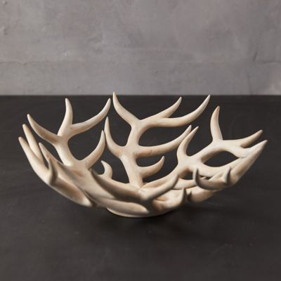 Bleached Wood Antler Bowl