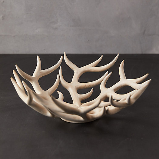 View larger image of Bleached Wood Antler Bowl