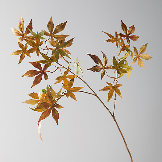 View larger image of Faux Gold Maple Leaf Spray