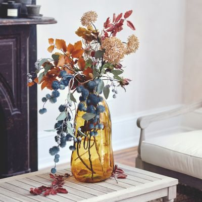 Shop the Look: An Autumn Blues Faux Floral Arrangement