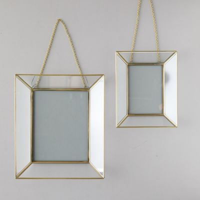Mirrored Brass Frame