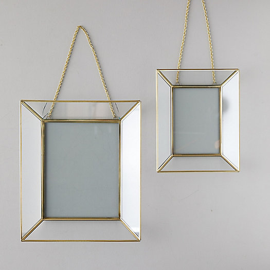 View larger image of Mirrored Brass Frame