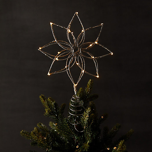 View larger image of Pre-Lit LED Christmas Tree Topper, Flower