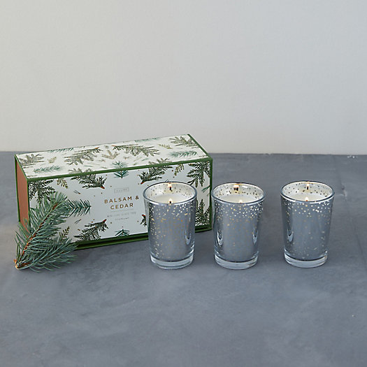 View larger image of Illume Luxe Votive Candle Set of 3, Balsam + Cedar