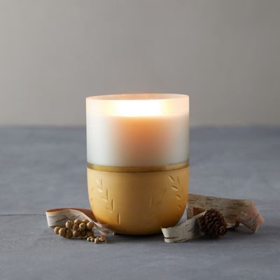 Illume Frosted Glass Candle, Winter White