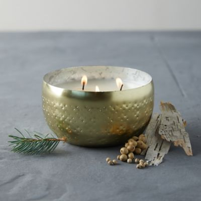 Illume Iced Metal Candle, Winter White