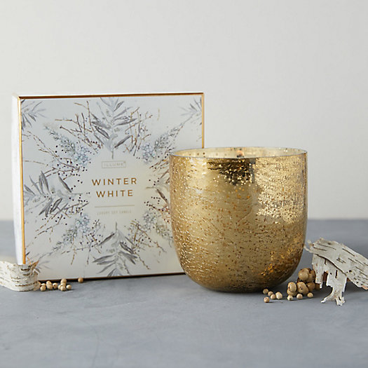 View larger image of Illume Mercury Glass Candle, Winter White