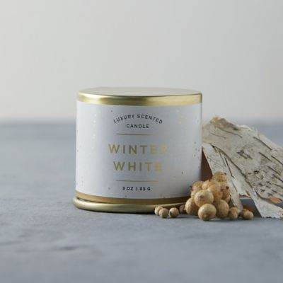 Illume Gilded Tin Candle, Winter White
