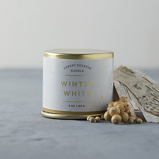 View larger image of Illume Gilded Tin Candle, Winter White