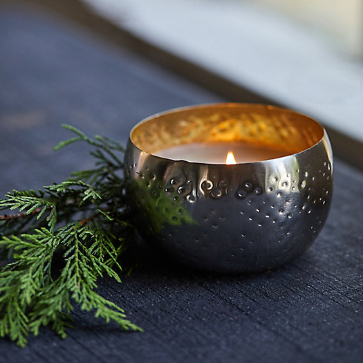 View larger image of Illume Iced Metal Candle, Balsam + Cedar