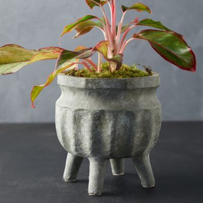 Footed Ceramic Pot