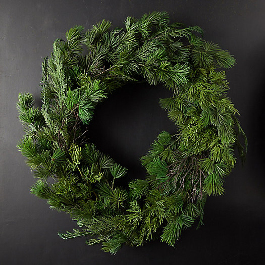 View larger image of Faux Mixed Greens Wreath