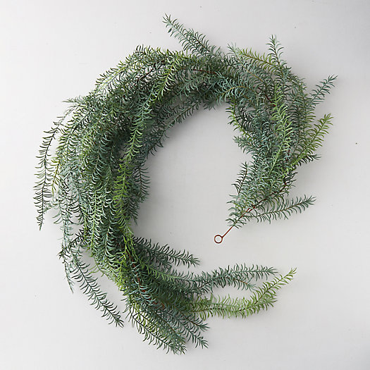 View larger image of Faux Wispy Greens Garland