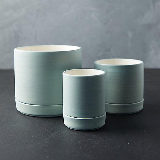View larger image of Colorful Stoneware Pot + Saucer Set