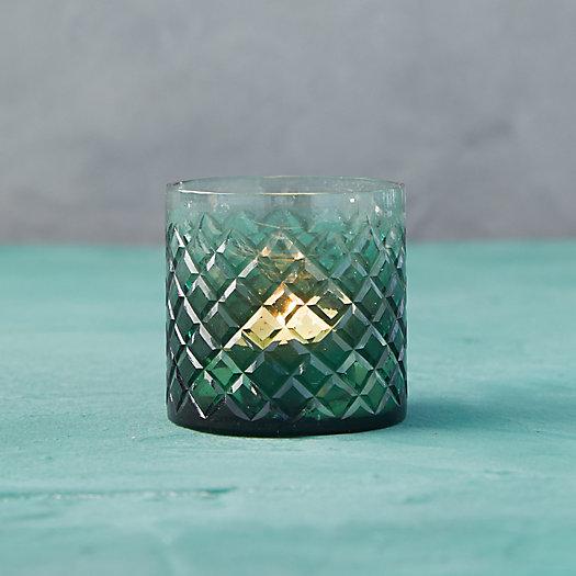 View larger image of Green Diamond Glass Tea Light Holder
