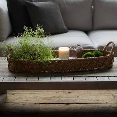 Woven Seagrass Decorative Tray