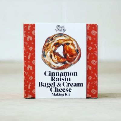 Cinnamon Raisin Bagel + Cream Cheese Making Kit
