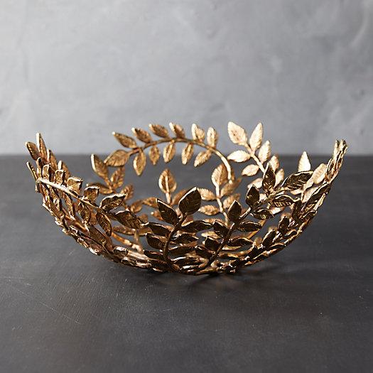 View larger image of Gilded Leaf Decorative Bowl