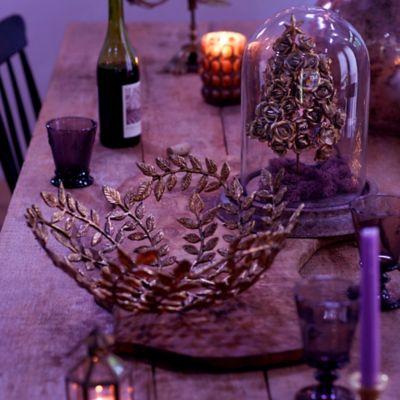 Gilded Leaf Decorative Bowl