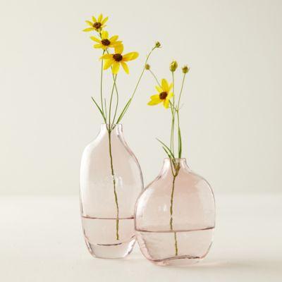 Speckled Pink Bud Vase