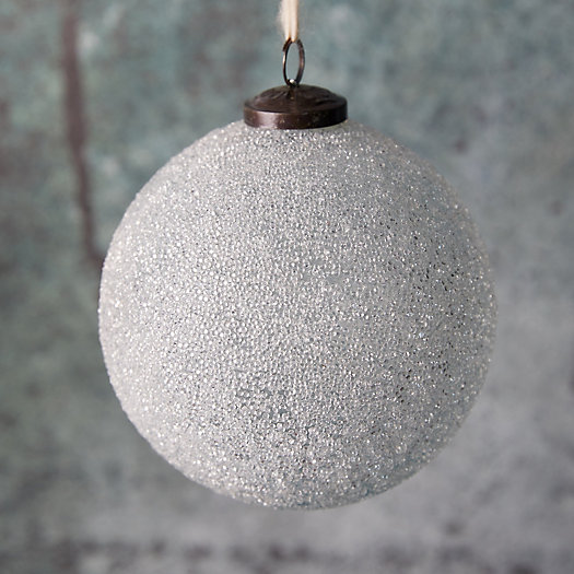 View larger image of Icy Beaded Glass Globe Ornament