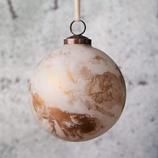 View larger image of Marbled Gold Glass Globe Ornament