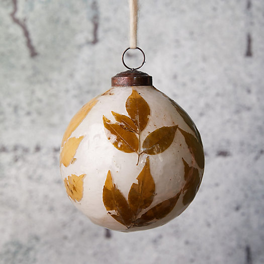 View larger image of Leafy Glass Globe Ornament