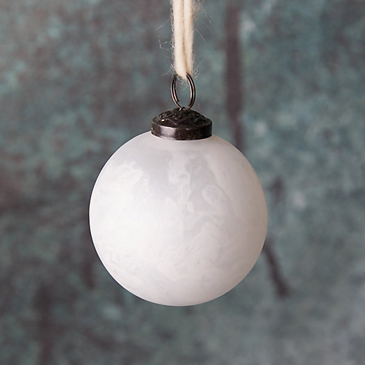 View larger image of Marbled White Glass Globe Ornament